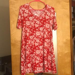 NWT red floral dress- size M